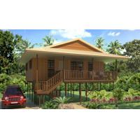 China Hot-Sale Prefab Light Steel Structure  Holidays Thailand Wooden House Bungalow With 3 Bedrooms on sale