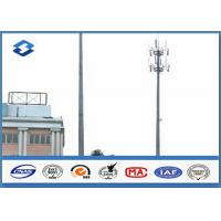 China Microwave Telecommunication electric service pole , Hot Roll Steel Q420 wireless communication towers on sale