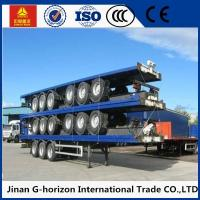 3 Axle Flat Bed Semi Trailer ,  Container Semi Trailer with Common Mechanical Suspension 10 Manufactures