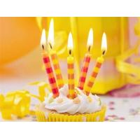 Colorful Streak Printable Birthday Candles Long Burning Time No Dripping Unscented Manufactures