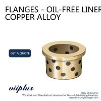 Metric Size Graphite Plugged Bushings , Flanged Bronze Bushings For Rubber Machine Manufactures
