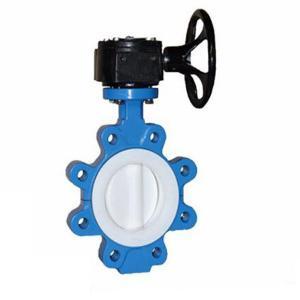 Fluid resistance cast iron full lined PTFE lug butterfly  BKVALVE valve