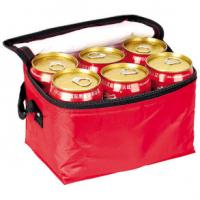 China 2016 New Design Red 6 Beer Cans Cooler for Picnic Lunch Bag with Bottle Holder on sale