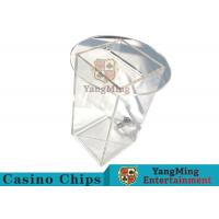 Acrylic HD Transparency Poker Card Holder , Anti - Fade Dealers Card Holder  Manufactures