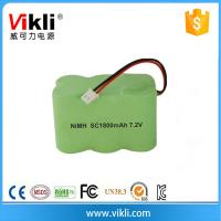 China nimh SC size rechargeabe battery 7.2V 1800mah on sale