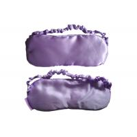 China Romantic Purple Soft Sleep Blindfold Eye Mask Simple Design Made Of Durable Satin on sale