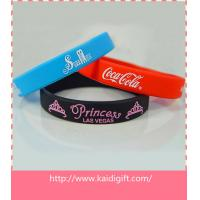 China Custom Debossed Silicone Wristband With Color Filled on sale