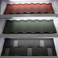 Buy cheap Colorful Anti - Rainstorm Stone Coated Step Tiles Roofing Sheet CE / SONCAP from wholesalers
