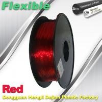Professional Eco Friendly Flexible( TPU )  Red 3D Printer Filament 1.75mm Manufactures