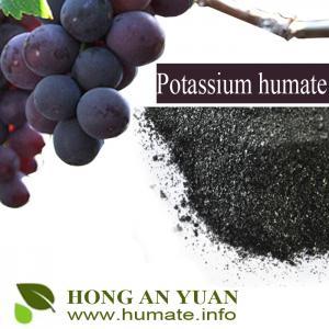 98% Water Solubility Potassium Humate Shiny Flake / Powder Humic Acid Type Organic Fertilizer Manufactures