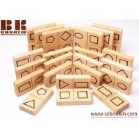 China Wooden domino game geometric shape dominoes eco friendly toy kids wooden toys waldorf toy 9 X 4,5 X 1,5 cm on sale