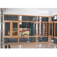Yellow Brown Aluminium Frame Glass Window And Doors Air Proof Flush Design Manufactures