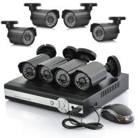 China 4 Channel Standalone DVR Surveillance System For Bullet Camera Support 3G Phone on sale