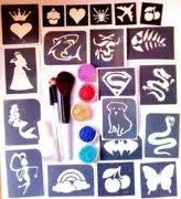 Body Art Temporary Glitter Tattoo Kit with 12 Colors Tattoo Ink Manufactures