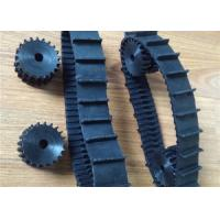 Black Robot Rubber Tracks lawn mover rubber tracks 40mm *9.3mm*66 with nature strong fiber for small prototype Machinery Manufactures