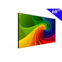 2x2 lcd video wall 60 inch wall mounted lcd display with narrow bezel 6.5mm Manufactures