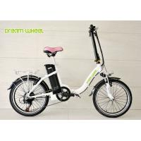 Lady Style 20 Inch Wheel Foldable Electric Bike Aluminum Frame With Shimano Derailleur Manufactures