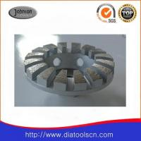 China 4 Diamond Grinding Wheels With Curve Edged Segment For Concrete And Stone on sale