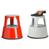 Easy to move plastic rolling kick stool safety steep stool Manufactures