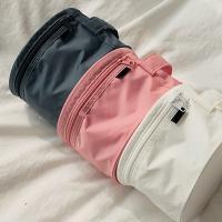 Durable Pink Travel Undergarments Pouch / Underwear Travel Case Round Design for sale