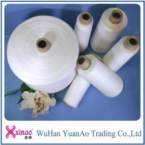 China Bright Short Fiber Ring Spun Polyester Yarn , Dyed 100% Polyester Sewing Yarn on sale