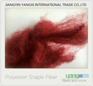Pilling Resistant Color Polyester Fiber , Renewable Micro Denier Polyester Fiber Manufactures