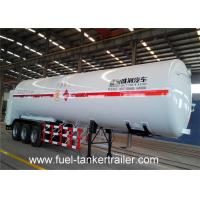 3 Axles Lng Storage Tank Trailer Truck , carbon steel vacuum tanker trailer Manufactures