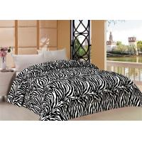 Zebra Pattern Full Bed Comforter Set With Printed Flannel Fleece Front Manufactures
