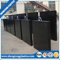 China heavy duty anti-slip UHMWPE plastic crane outrigger jack pad supplier on sale