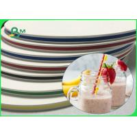 60gsm 120gsm Durable Food Grade paper 15mm 14mm Width For 5 - 12mm Straws Manufactures