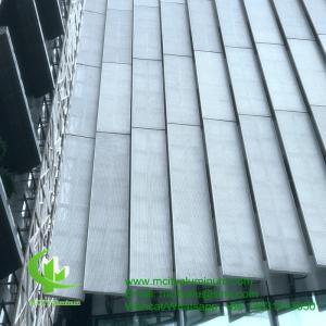 FOSHAN PVDF  Aluminum Facade Panels Non Standard  , Building Exterior Corrugated Aluminium Cladding Manufactures