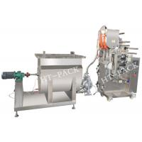 SUS304 liquid / Jam / Sauce Packaging Machinery with PLC Controller