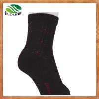 Chinese Wholesale Breathable Bamboo Fibre Sock with Bamboo / Spandex Manufactures
