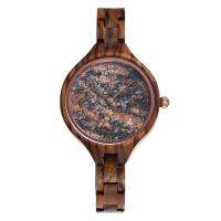 36mm Stone Marble Face Watch Wooden Band True Wood Watches OEM LOGO Manufactures