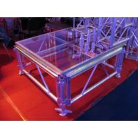 Transparent Glass Portable Stage Platform Movable Adjustable Size For Outdoor Concert Manufactures