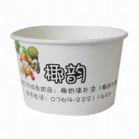 Flexo-printed Paper Bowl, Various Sizes/Small MOQ/Customized Packing/OEM Pattern/FDA Mark/Double PE Manufactures