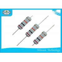 China High Reliability Metal Oxide Resistor , Gray Small Size 470 Ohm 1 Watt Resistor on sale