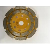 Yellow Double Row Up  4 Inch Diamond Grinding Cup Wheel For Angle Grinder Manufactures