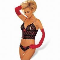 China Sexy Lingerie, Bodysuit Includes Top, Pant and Gloves on sale