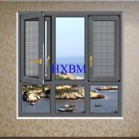 Thermal Insulation French aluminum Casement Windows With Grill Water Resistance Manufactures