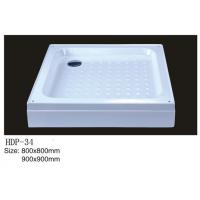 China Acrylic shower tray, shower basin,acrylic shower base HDP-34 900X900,800X800 on sale