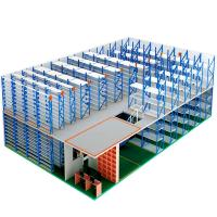 Two Level Storage Shelving Warehouse Mezzanine Systems Customized Height Manufactures