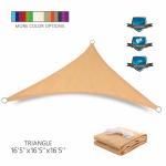 Custom Triangle Sun Shade Canopy Sail Waterproof PU Coated Finishing Manufactures