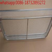 China customized wire mesh storage basket with black color/ Laboratory Wire Mesh Basket/Disinfection Baskets on sale