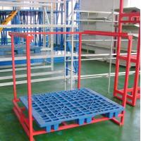 China Customized Car Accessories Tire Metal Shelf Metal Foldable Stacking Rack Warehouse on sale