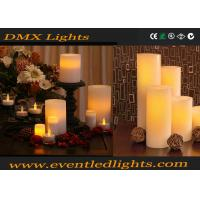 Christmas Remote Led Flameless Candles / Color Changing Led Decorative Candles With Clip Manufactures