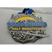 Zinc Alloy Die Casting Iron or Brass or Copper Timpanogos Half Marathon Medal with Glitter Manufactures
