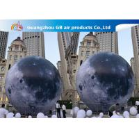 Custom 5m Inflatable Lighting Decoration Lighted Moon Ball For Outdoor Manufactures