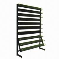 CD/DVD display/metal rack for retail, with 10 shelves Manufactures