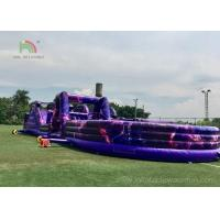 China PVC Giant Outdoor Playground Inflatable Obstacle Course Customized Size on sale